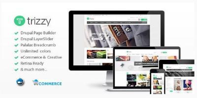 Trizzy - Multi-Purpose eCommerce Drupal Theme