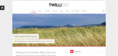 TWILLI SKY - Responsive HTML Template