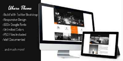 Uhuru - Responsive Multi-Purpose Concrete5 Theme
