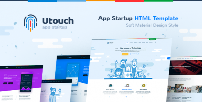 Utouch - HTML Template for IT Startup, Business, Product, Events and Courses