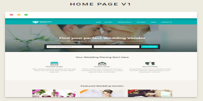 Vendor Directory HTML Template - Wedding Vendor