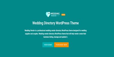 Vendor Directory WordPress Theme - Wedding Vendor