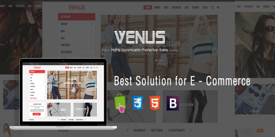 Venus - Fashion Tshirt Shop Responsive Prestashop Theme