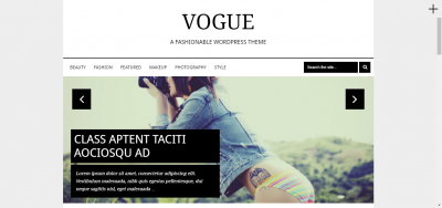 Vogue - Elegant WordPress Theme