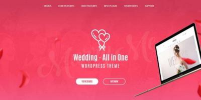 Wedding - All in One WordPress Theme