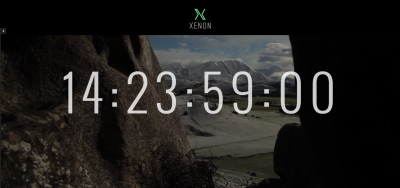 Xenon - Countdown & YouTube Video Background Page