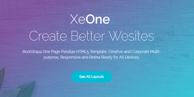 XeOne - One Page Parallax
