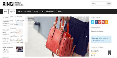 Xing - Business / ecommerce WordPress Theme